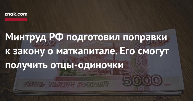 Материнский капитал смогут получить отцы-одиночки — Минтруд РФ