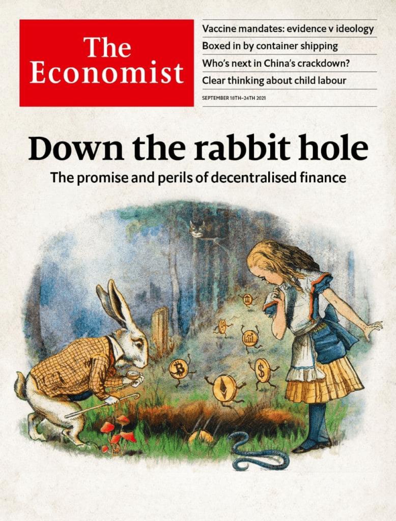 Обложку еженедельника The Economist посвятили DeFi